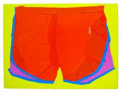 Orange Pants, 2019, Öl auf Leinwand, 70 x 100 cm