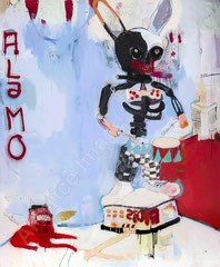 ALAMO, 2007, Mischtechnik auf Leinwand, 205 x 168 cm