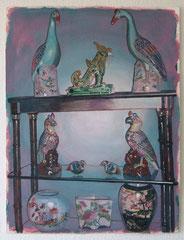 Arjan van Helmond, BIRDS #1, 2015, Tinte, Gouache und Acryl auf Papier, 50 x 66 cm