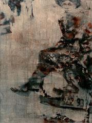 WOANDERS IST AUCH SCHÖN, 2018, Aquarell, Tusche und Acryl auf Nessel, 80 x 60 cm