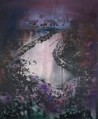 MOONLIGHT II 2019 Mischtechnik auf Leinwand 120 x 100 cm