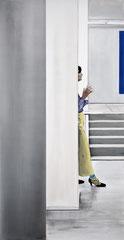 ENTR'ACTE 2021 Acryl und Öl auf Leinwand 240 x 125 cm