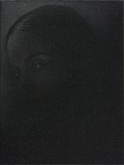 Untitled 2020 Gesso und Grafit auf Leinwand 40 x 30 cm