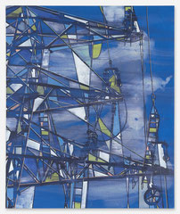 Himmel, 2020, Acryl und Tusche auf Leinwand, 180 x 150cm
