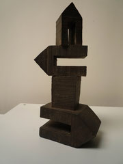 TURM VII/II, 2012/15, Bronzeguss, 27,5 x 14 x 9 cm