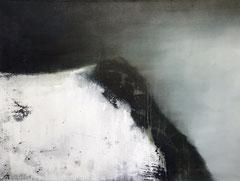MOUNT DUSK, 2018, Mischtechnik auf Leinwand, 60 x 80 cm