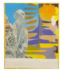 Gefühlte Wahrheit, 2019, gefaltete Leinwand, Öl, 60 x 50 cm verkauft