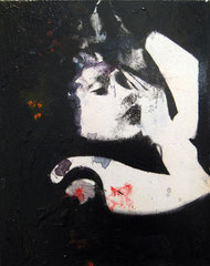 PARACETAMOL II, 2016, Öl, Acryl, Papier und Kohle auf Leinwand, 30 x 40cm