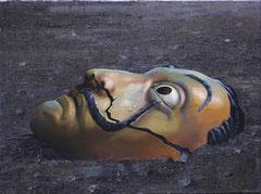 MASKE, 2020, Öl auf Leinwand, 44 x 60 cm