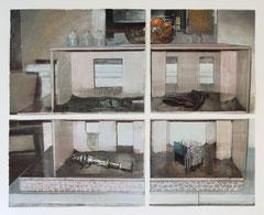 Arjan van Helmond, MODEL #6, 2014, Tinte, Gouache und Acryl auf Papier, 202 x 161 cm