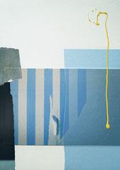 SAME PLACE, 2017, Mixed-Media Collage 41 x 30 cm, Unikat