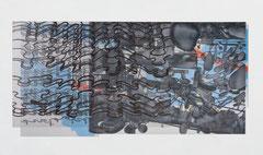 O.T. (BLAUMEINDVARI), 2009, VARI, 5-teilig, Acryl auf PVC-Folie, 103 x 215 cm