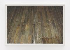 Arjan van Helmond, FLOOR #21, 2017, Tinte, Gouache und Acryl auf Papier, 114 x 76 cm