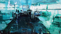 O. T., 2013, Acryl auf Leinwand, 150 x 280 cm