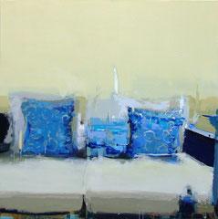 PEACH BLOSSOM AT HOME #5, 2011, Acryl auf Leinwand, 120 x 120 cm