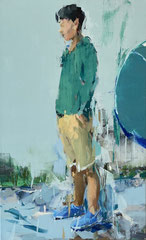 GREEN SERIES #37, 2016, Acryl auf Leinwand,  150 x 93 cm