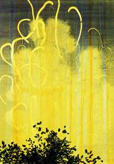 O. T. (therm), 2015, Tusche, Acryl auf Papier, 100 x 70 cm