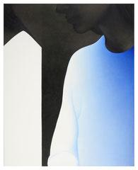 Untitled 2019 Acryl und Silberstift auf Leinwand 100 x 80 cm
