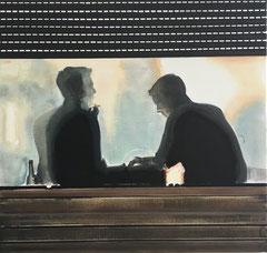 SMOKE, 2018, Öl und Acryl auf Leinwand, 85 x 90 cm