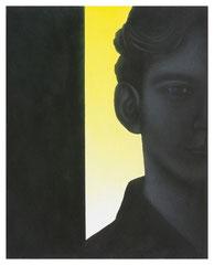 Untitled 2020 Acryl Silberstift und Farbstift auf Leinwand 50 x 40 cm