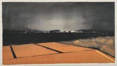 ORANGE NIGHT 2019 Gouache auf Papier 32 x 57 cm