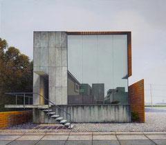 DER BAU, 2018, Öl auf Leinwand, 105 x 120 cm