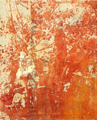 APOLLO 11, 2019, Tusche und Acryl auf Leinwand, 75 x 60 cm