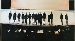 STAGE 2020 Gouache auf Papier 40 x 70 cm