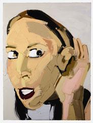 LISTEN, 2012, Öl auf Leinwand, 200 x 150 cm