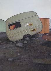 MOBIL, 2020, Öl auf Leinwand, 90 x 65 cm verkauft