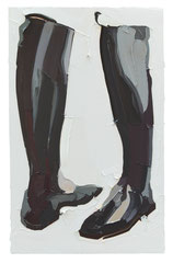 BOOTS, 2016, Öl auf Leinwand, 160 x 100 cm