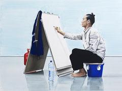 COMMENCEMENT, 2016, Öl und Acryl auf Leinwand, 180 x 240 cm