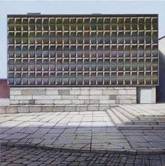 HÜLLE - RUINE, 2019, Öl auf Leinwand, 110 x 110 cm