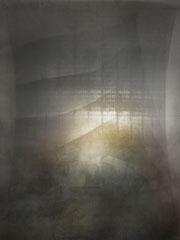 CONTROLLED DEMOLITION / KÜHLTURM CASTROP-RAUXEL, 2016, C-Tinte auf Büttenpapier, gerahmt, 30 x 23 cm