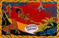 bonjour Tarzan - tenture soie 200X300cm