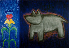 I am a dog (coeur couronné)