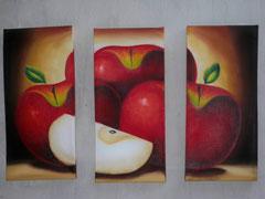 manzana roja fondo chocolate