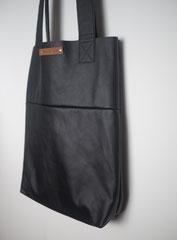 zwarte shopper tas