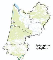 carte distribution Epipogium aphyllum - Epipogon sans feuilles