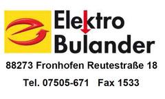Elektro Bulander 88273 Fronhofen