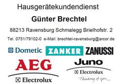Hausgeräte Günter Brechtel 88213 Ravensburg