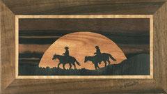 Deux cow-boys au coucher du soleil (285/160)