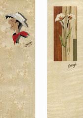 Marque-pages Lucky-Luke et 2 kalas (60x200) 2x