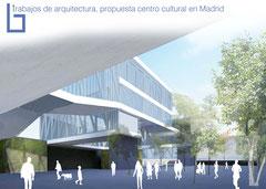Arquitectura, diseño 3d de centro multi-cultural