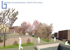 Arquitectura, diseño 3d de museo