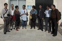 La délégation avec Madame Truc