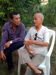 Nguyen Lan Binh, réalisateur du film sur Nguyen Van Vinh et Jean Pierre Richardson, qui va sur ses 92 ans
