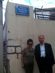 SE Trinh Ngoc Thai devant le passage Yesin à Montpellier