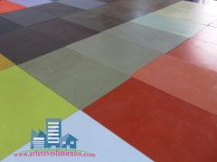 gama de colores de microcemento de arte revestimientos
