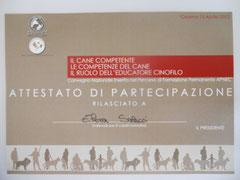 Convegno: Competenze del Cane e Ruolo dell' Educatore Cinofilo 2012